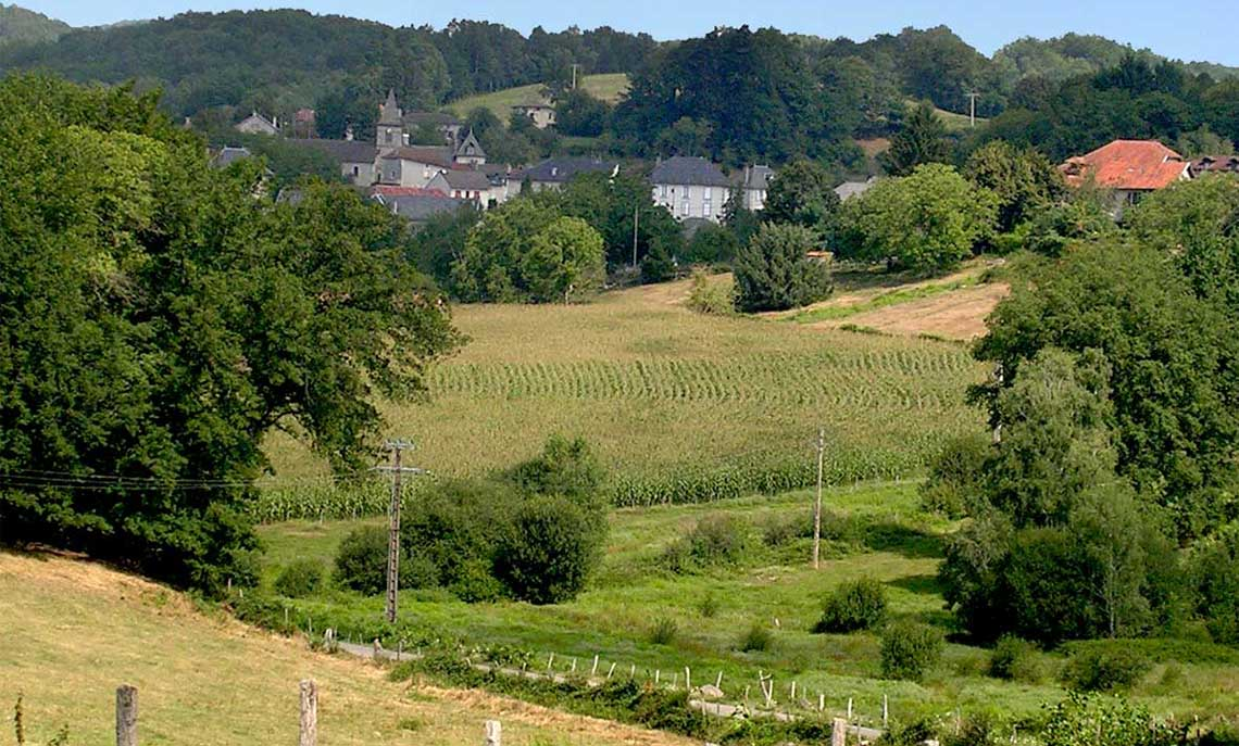 The village of Parlan / Cantal